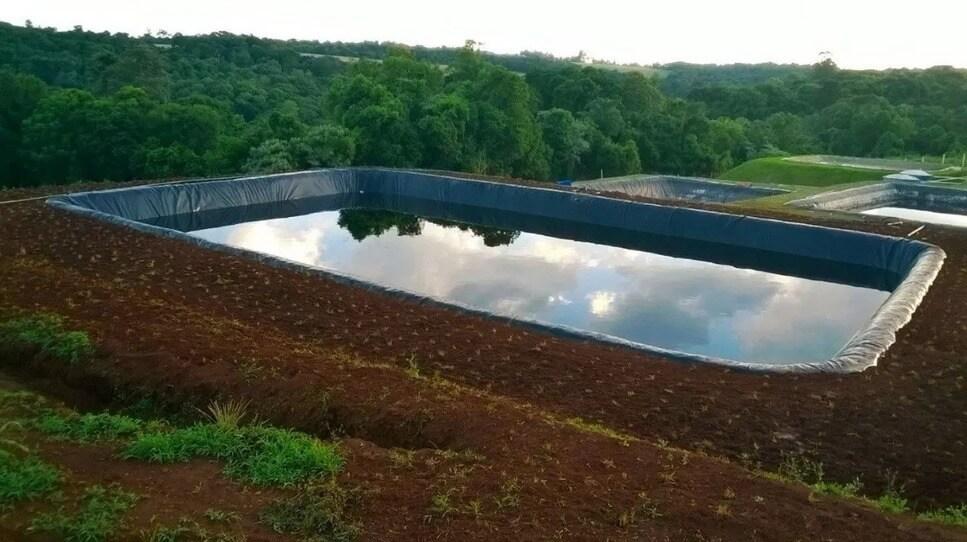 Tanque de captação de água da chuva