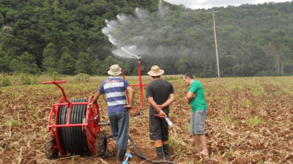 Irrigação de soja