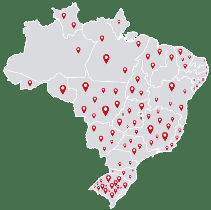 Mapa dos Clientes Irrigat