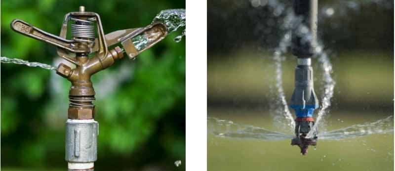 Mecanismo de irrigação Aspersor