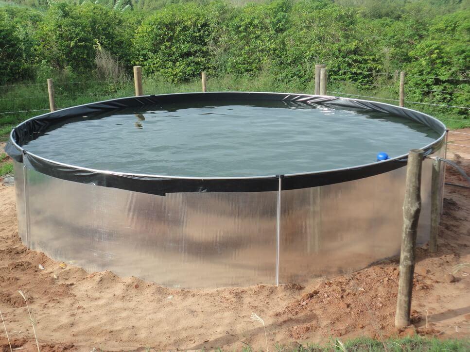 Tanque de captação para água da chuva