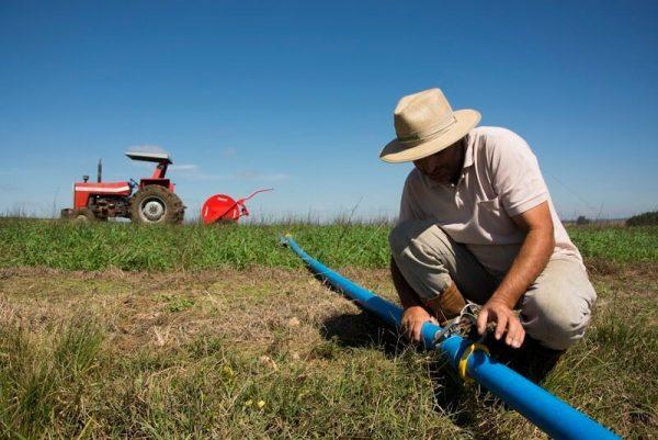 Tubulação irrigação